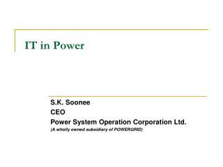 IT in Power