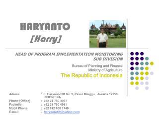 HARYANTO [Harry]