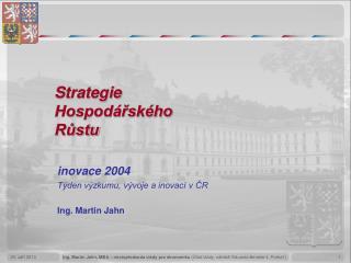 Strategie  Hospodářského  Růstu