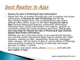 best Realtor in Ajax