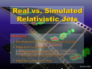 Real vs. Simulated Relativistic Jets