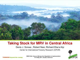 Taking Stock for MRV in Central Africa