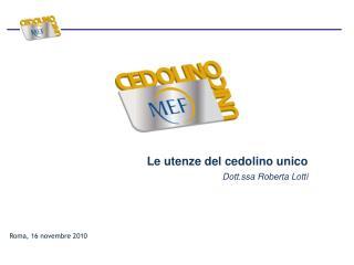Roma, 16 novembre 2010