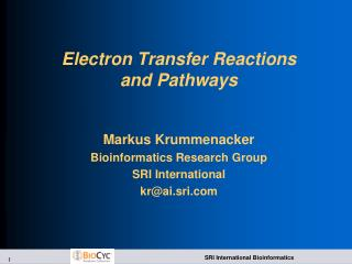 Electron Transfer Reactions and Pathways