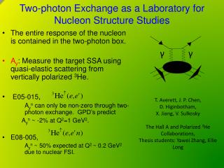 Two-photon Exchange as a Laboratory for  Nucleon Structure Studies