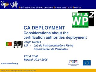 CA DEPLOYMENT  Considerations about the certification authorities deployment