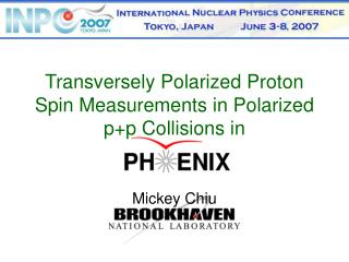 Transversely Polarized Proton Spin Measurements in Polarized p+p Collisions in
