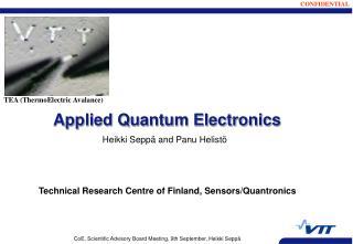 Applied Quantum Electronics