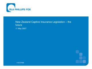 New Zealand Captive Insurance Legislation – the future