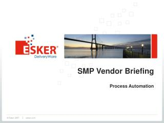 SMP Vendor Briefing Process Automation