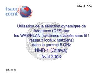 NMR-1 (Ottawa) Avril 2003