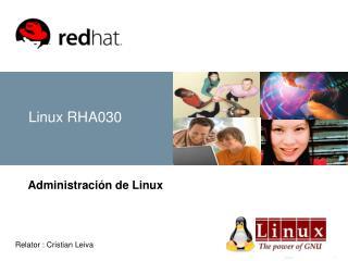 Linux RHA030