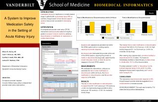 A System to Improve  Medication Safety  in the Setting of  Acute Kidney Injury