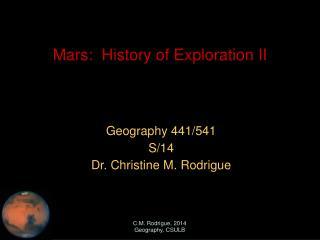 Mars:  History of Exploration II