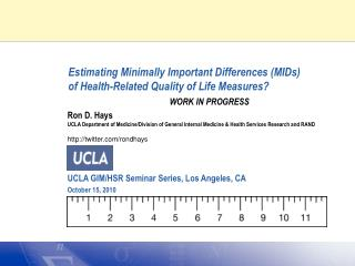 Estimating Minimally Important Differences (MIDs)  of Health-Related Quality of Life Measures?