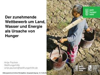 Antje Paulsen Welthungerhilfe  antje.paulsen@welthungerhilfe.de