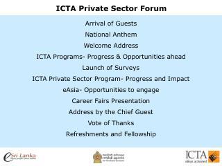 ICTA Private Sector Forum