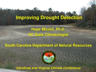 Hope Mizzell, Ph.D. SC State Climatologist South Carolina Department of Natural Resources