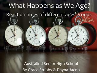 What Happens as We Age?