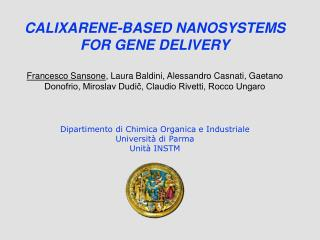 CALIXARENE-BASED NANOSYSTEMS FOR GENE DELIVERY