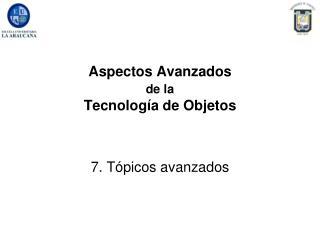 Aspectos Avanzados  de la  Tecnolog a de Objetos