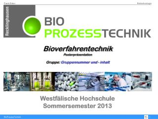 Westfälische Hochschule Sommersemester 2013