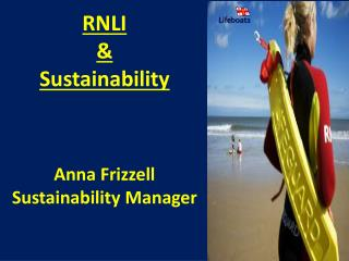 RNLI  &  Sustainability