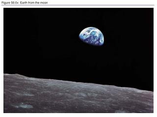 Figure 50.0x  Earth from the moon