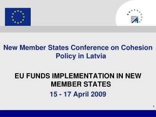 New Member States Conference on Cohesion Policy in Latvia