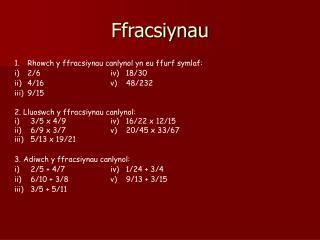 Ffracsiynau