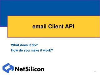 email Client API