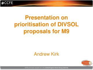 Presentation on prioritisation of DIVSOL proposals for M9