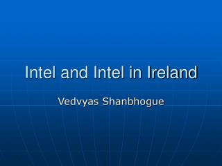 Intel and Intel in Ireland