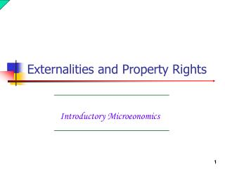 Introductory Microeonomics