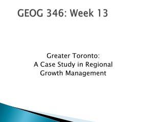GEOG 346: Week  13