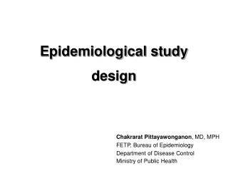 Epidemiological study design