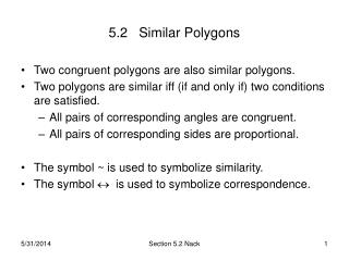 5.2   Similar Polygons