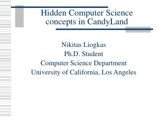 Hidden Computer Science concepts in CandyLand