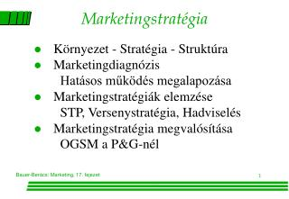 Marketingstratégia