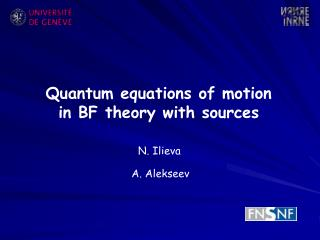 Quantum equations of motion in BF theory with sources
