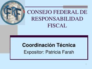 CONSEJO FEDERAL DE RESPONSABILIDAD FISCAL
