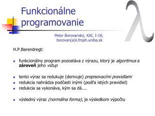 Funkcion álne  programovanie