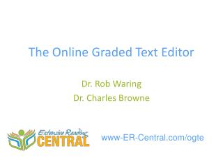 The Online Graded Text Editor