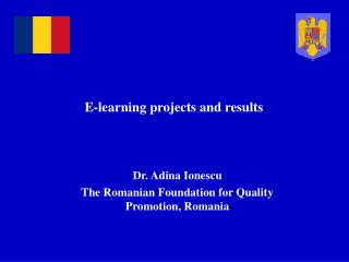 E-learning projects and results