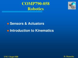 COMP790-058 Robotics
