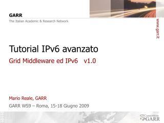 Tutorial IPv6 avanzato