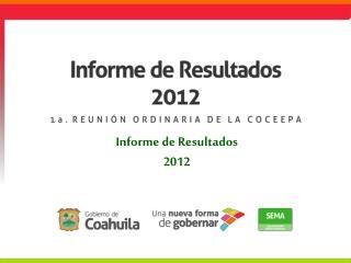 Informe de Resultados 2012