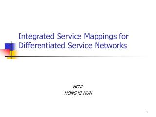 Integrated Service Mappings for Differentiated Service Networks
