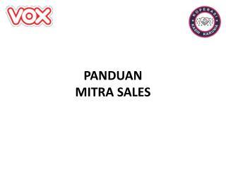 PANDUAN  MITRA  SALES