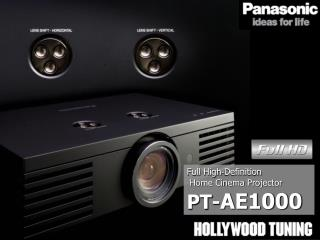 Full High‐Definition  Home Cinema Projector PT- AE1000
